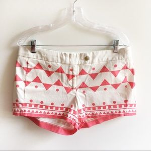 J. Crew Factory City Fit chino shorts geometric